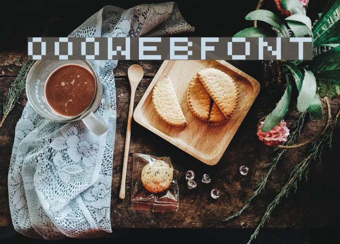 000webfont Font examples