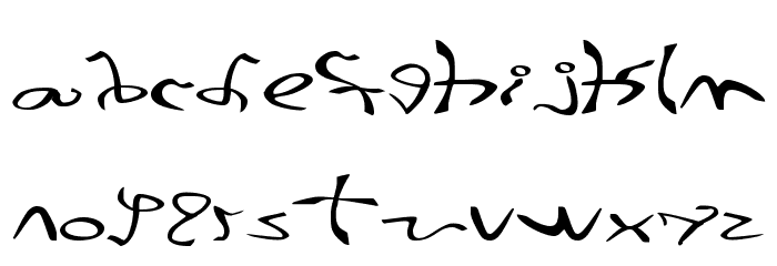 001 Stretched-Strung Wide Font LOWERCASE
