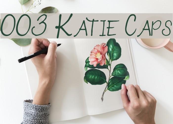 003 Katie Caps Font examples