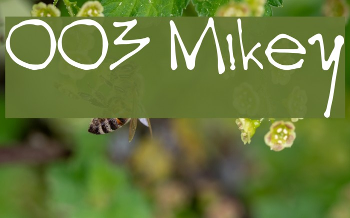 003 Mikey फ़ॉन्ट examples