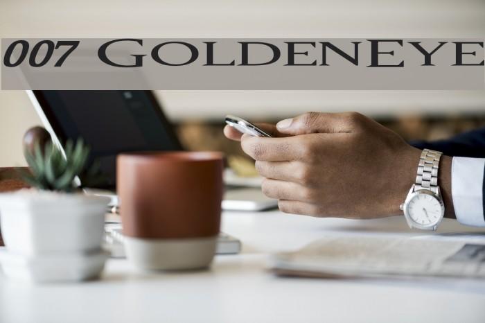 007 GoldenEye फ़ॉन्ट examples