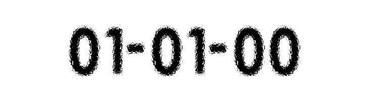01-01-00  Frei Schriftart Herunterladen