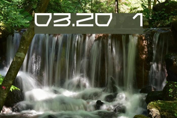 03.20 1 फ़ॉन्ट examples