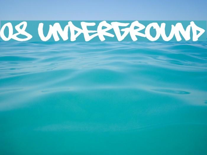 08 Underground फ़ॉन्ट examples