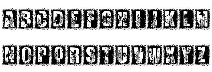 1 DIMENCION フォント 大文字