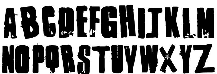 1 Punk फ़ॉन्ट अपरकेस