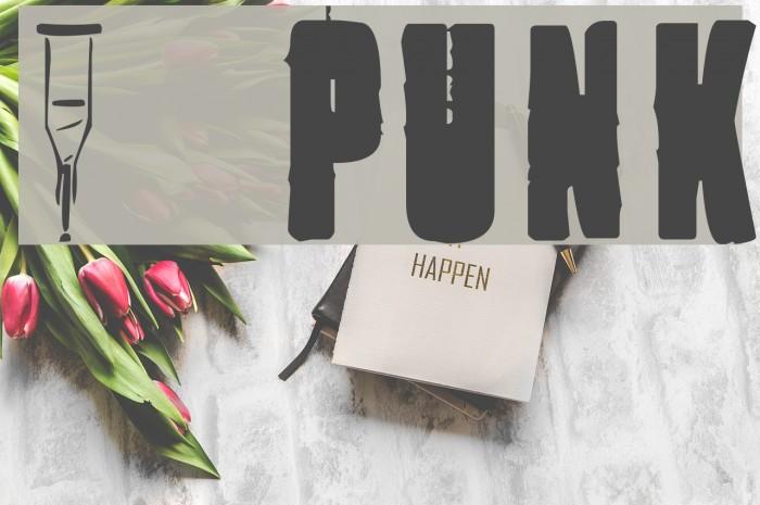 1 Punk Font examples