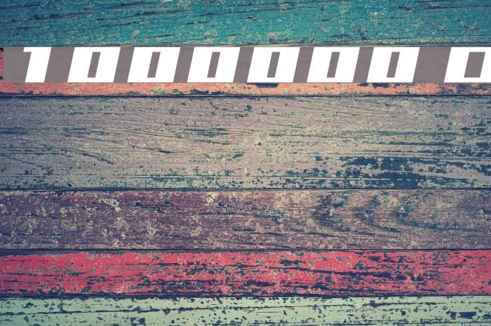 1000000volt Oblique फ़ॉन्ट examples