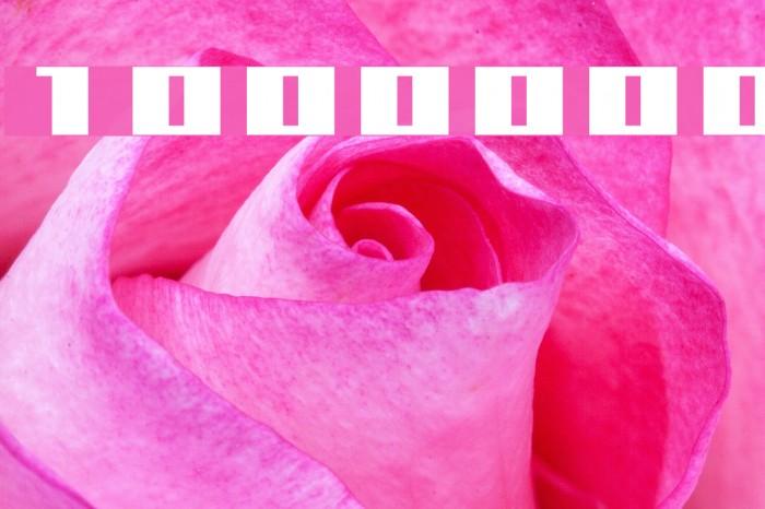 1000000volt Font examples