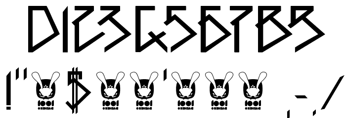 1001head Font Fonte OUTROS PERSONAGENS
