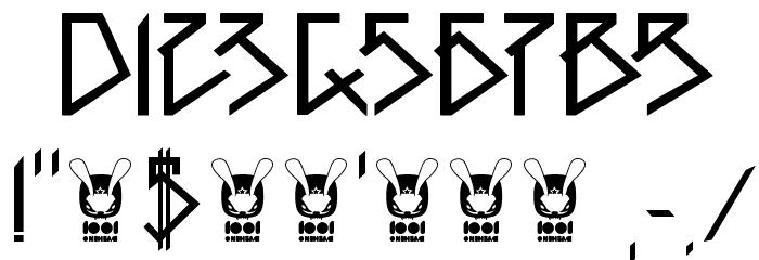 1001head Font Font OTHER CHARS