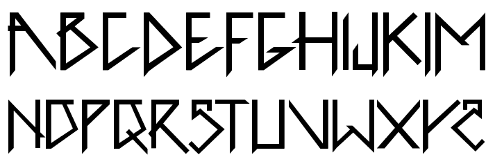 1001head Font फ़ॉन्ट अपरकेस