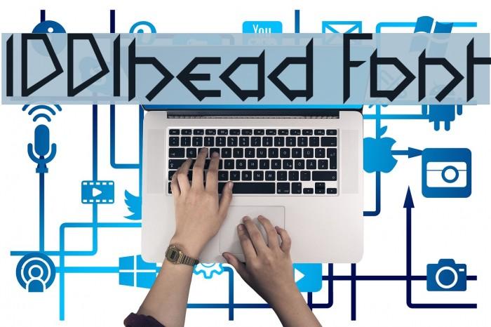 1001head Font Fonte examples