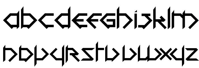 1001head Font फ़ॉन्ट लोअरकेस