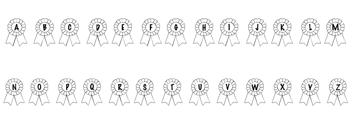 101! Awards Won Font Litere mari