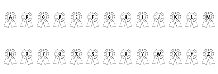 101! Awards Won Font Litere mici
