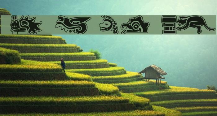 101! Aztec SymbolZ Font examples