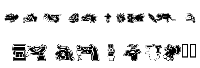 101! Aztec SymbolZ Font LOWERCASE