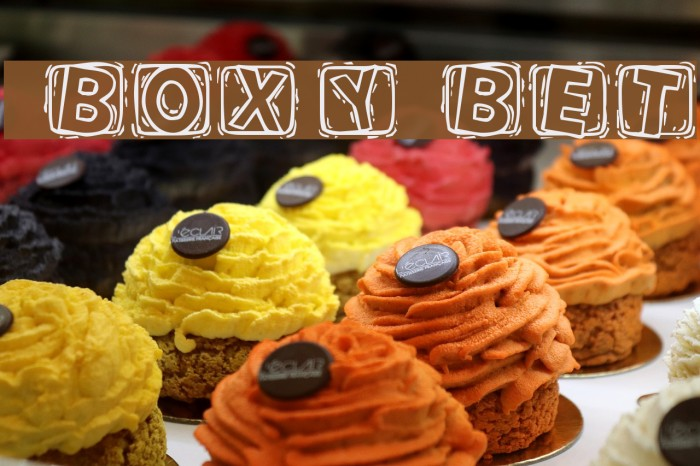 101! BoXY 'Bet Шрифта examples