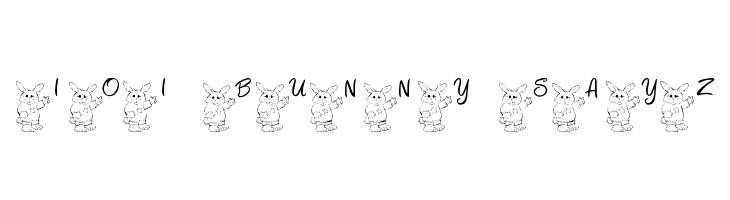 101! Bunny SayZ...  لخطوط تنزيل