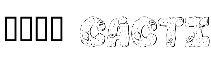 101! Cacti  Free Fonts Download