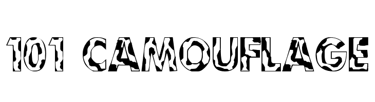 101! Camouflage  Free Fonts Download