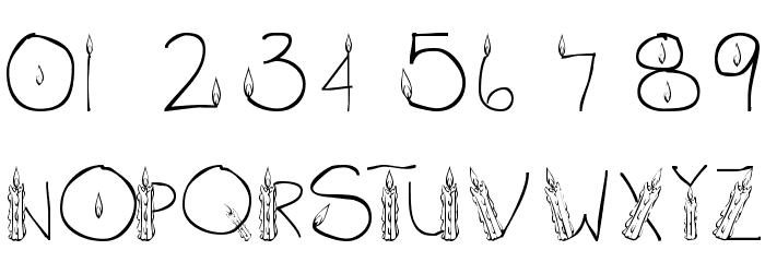 101! CandleZ Шрифта ДРУГИЕ символов