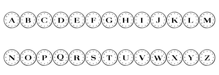 101! Compass Font Litere mici