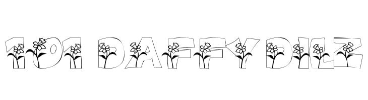 101! DaffYDilZ  Free Fonts Download