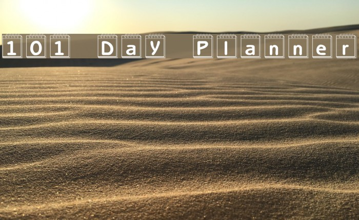 101! Day Planner Font examples