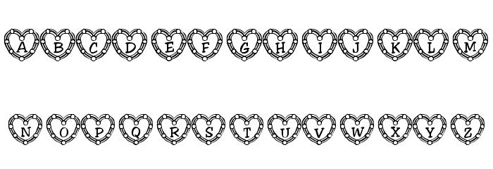 101! Heart Deco फ़ॉन्ट अपरकेस