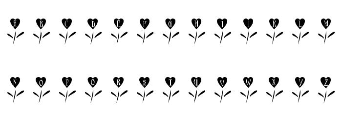 101! Love Garden फ़ॉन्ट अपरकेस