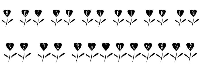 101! Love Garden फ़ॉन्ट लोअरकेस