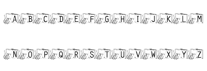 101! Melvin's Bedtime Story Font LOWERCASE