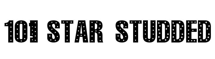 101! StaR StuDDeD  Скачать бесплатные шрифты