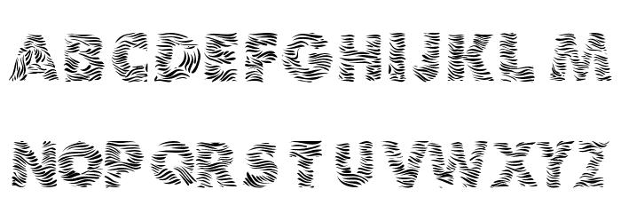 101! Zebra Print Fuentes es Zebra 0 Font