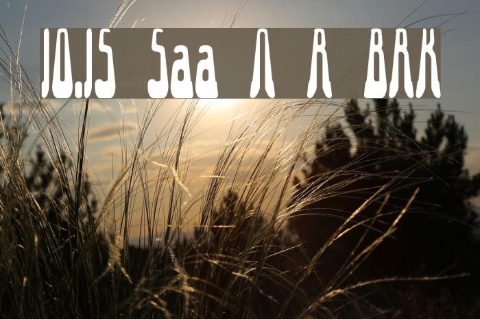 10.15 Saturday Night R BRK Font examples