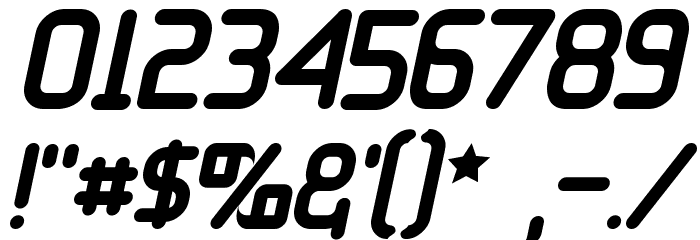 11S01 Black Tuesday Italic Font OTHER CHARS