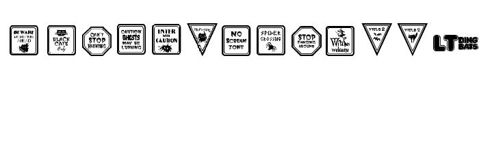 12 Halloween Signs LT Шрифта строчной