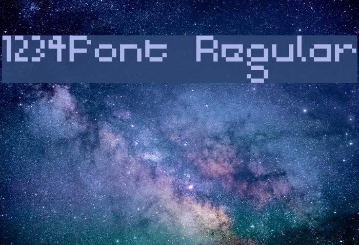 1234Font Regular Fonte examples