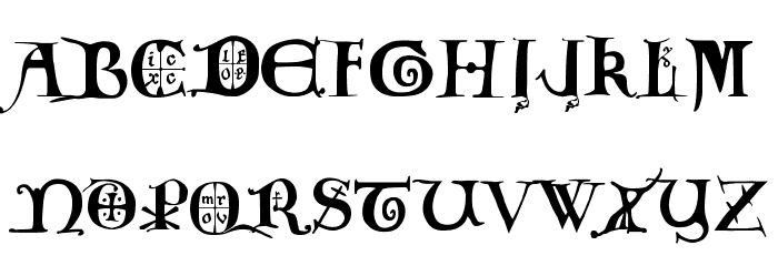 12th century caps Font UPPERCASE