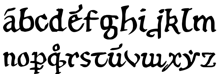 12th century caps Font LOWERCASE