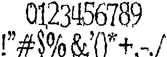 1313 MockingbiRd Lane Font Alte caractere