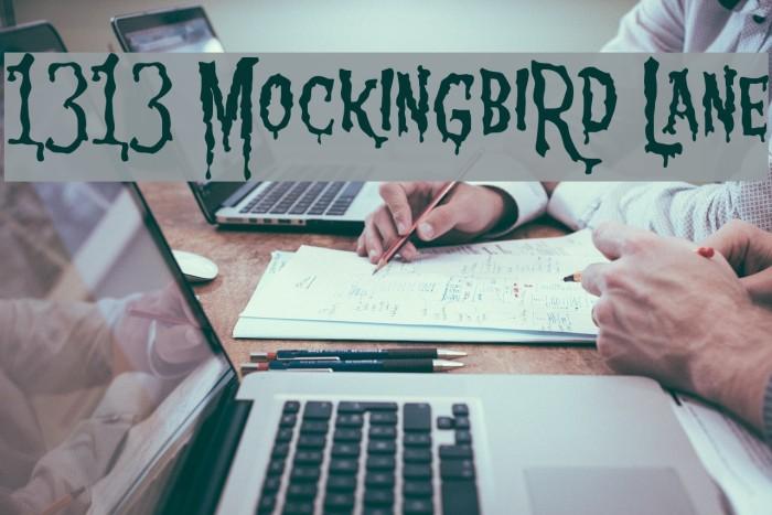 1313 MockingbiRd Lane Font examples