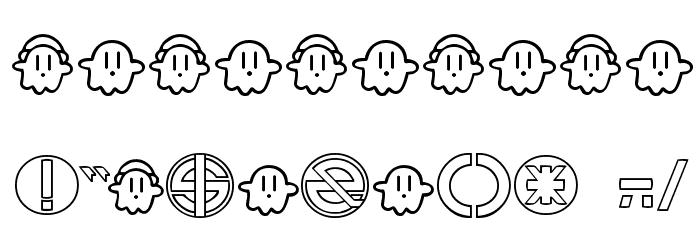 13_Ghosts Шрифта ДРУГИЕ символов