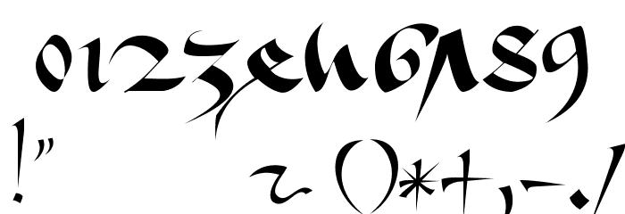 1413-Cursive Fonte OUTROS PERSONAGENS