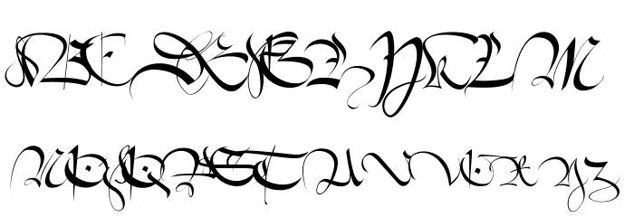 1413-Cursive Font Litere mari