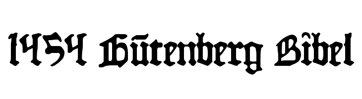 1454 Gutenberg Bibel  Free Fonts Download