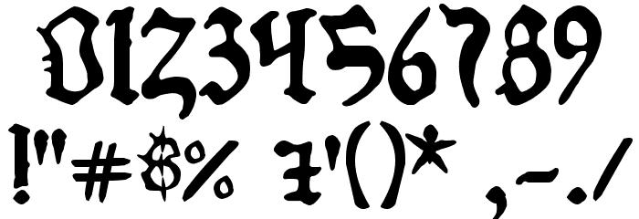 1454 Gutenberg Bibel Font OTHER CHARS