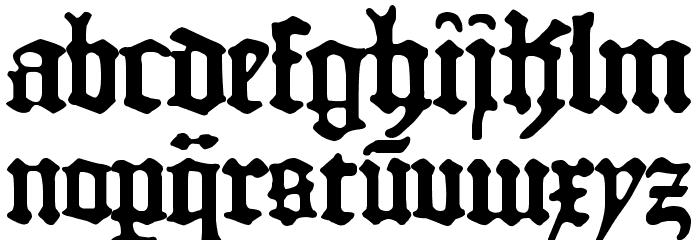1454 Gutenberg Bibel Font LOWERCASE